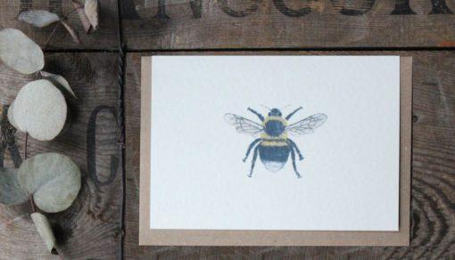 Bee A6 greetings card with Kraft envelope