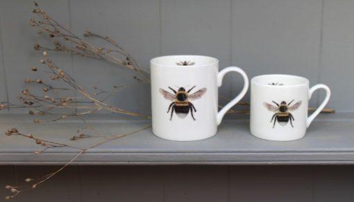 Bee bone china mugs