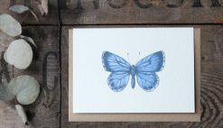 Holly Blue A6 greetings card with Kraft envelope