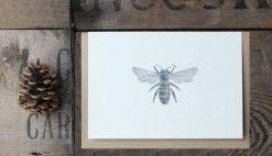 Honey Bee A6 greetings card with Kraft envelope