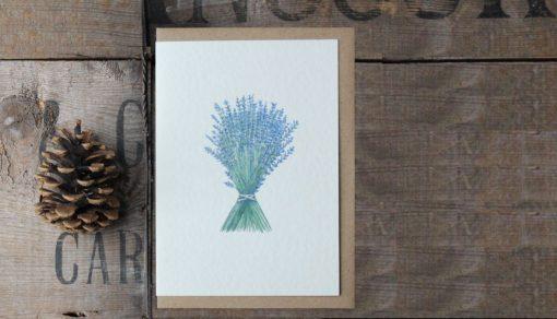 Lavender A6 greetings card with Kraft envelope