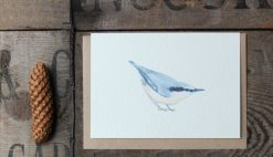 Nuthatch A6 greetings card with Kraft envelope