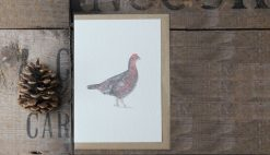 Grouse A6 greetings card with Kraft envelope