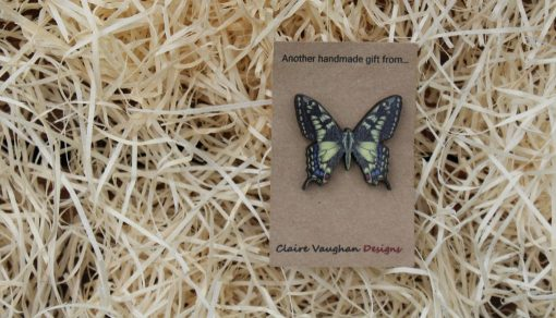Butterfly wooden brooch sustainable present