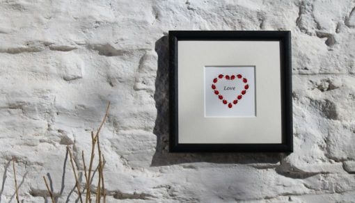 Ladybirds Heart Collectors Edition large framed botanic art print