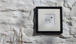 Gull framed coastal art print