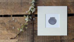 Scallop shell unframed coastal print