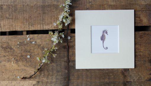Seahorse unframed coastal print