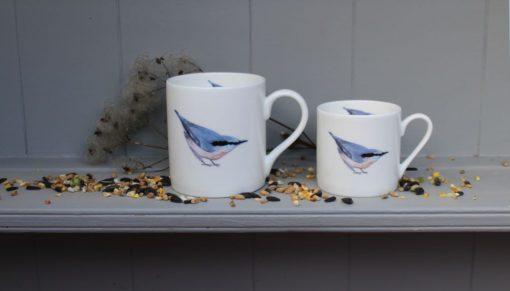 Nuthatch bone china mugs