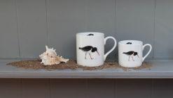 Oystercatcher bone china mugs