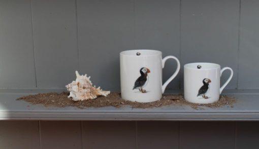 Puffin bone china mugs