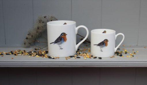 Robin bone china mugs
