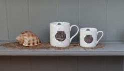 SCALLOOP tea and coffee mugs Claire Vaughan Designs