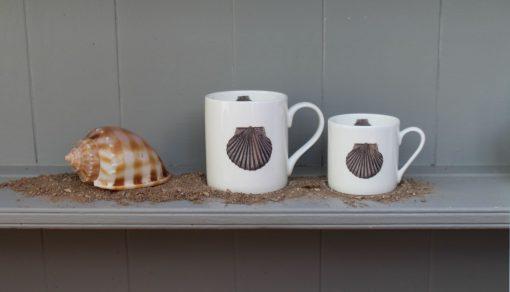Scallop Shell bone china mugs