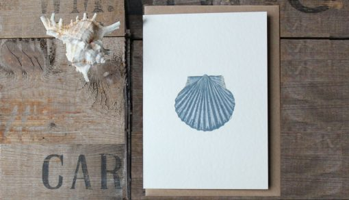 Scallop Shell A6 greetings card with Kraft envelope
