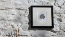 Scallop Shell framed coastal art print
