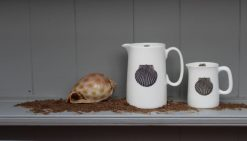 SCALLOP small and large jugs Claire Vaughan Designs