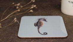 Seahorse melamine coasters