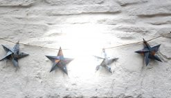 Handmade Bunting - string of recycled paper stars
