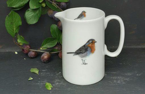 Robin bone china jugs