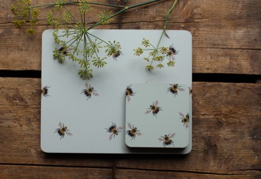 Bee placemat and matching coaster