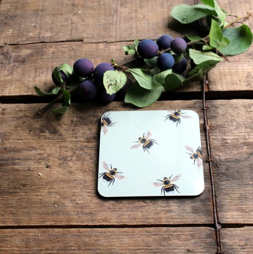 Bee melamine coasters