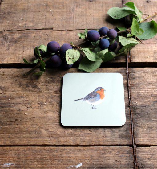 Robin melamine coasters